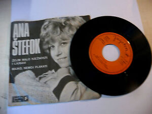 """ANA STEFOK"""" ZELIM MALO NJEZNOSTI I LJUBAVI-disco 45 giri YUGOTON Yu 1968"""" - Italia - L'oggetto può essere restituito - Italia"""