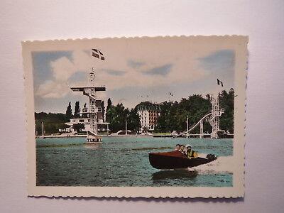 Annecy - La Plage - Strand - Boot im Wasser - Sprungturm / Foto Farb-Druck ?