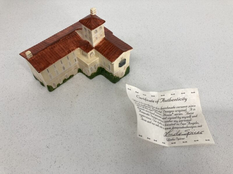 "Rare Vintage Porcelain ""Historic House"" The Ambassador's Residence Rome, Italy"