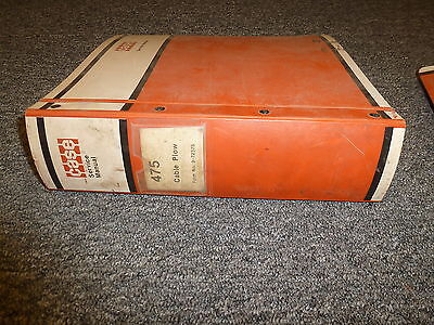 Case 475 Crawler Mounted Cable Plow Shop Service Repair Manual 972375