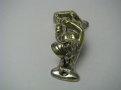 CONTINENTAL BRASS DOOR KNOCKER DOORKNOCKER Devil Anvers Belgium Ca1950s Rare  - $245.00