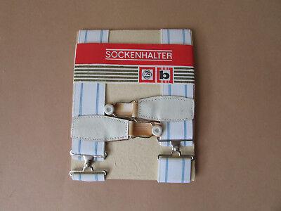 1 Paar DDR Sockenhalter Socken Halter 30mm breit in OVP (1)