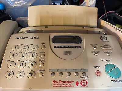 Sharp Ux-330l Fax Machine 3 In 1 Home Office Equipment Copier Nice