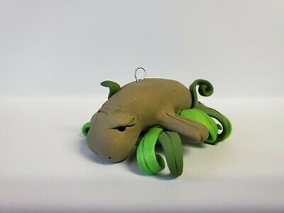 MANATEE Christmas Ornament HAND MADE Polymer Clay  ()