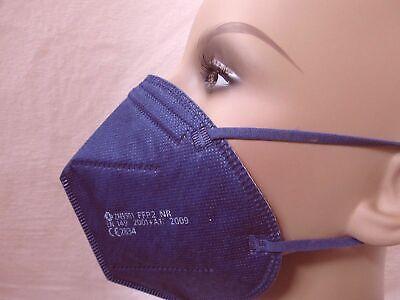 10 Stück FFP2 Masken Atemschutz dunkel blau CE Prüfstelle 2834 zertifiziert Neu