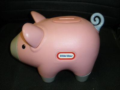 Little Tikes Pink Piggy Bank Plastic Logo vintage - Pink Plastic Piggy Bank