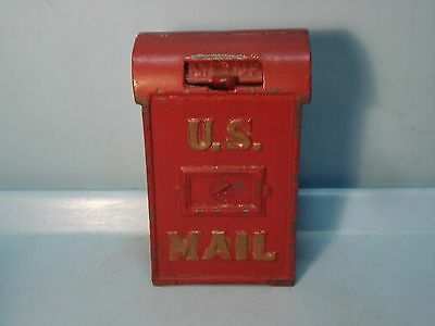 """U.S. Mail"" Narrow Cast Iron Bank A.C.Williams 4 3/8"" 1912 Pristine"
