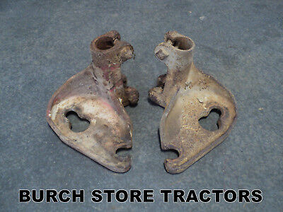Official Ih Pair Of Farmall Back Rear Cultivator Bar Mounts 140 130 Super A 100