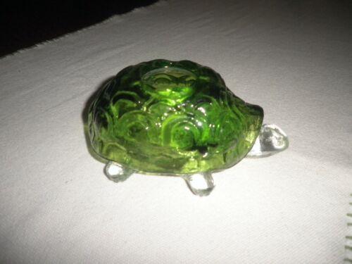 Vintage L. E. Smith Green Turtle Fairy Lamp