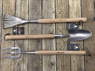 Kent & Stowe, Border Hand Trowel, fork & Shrub Rake.