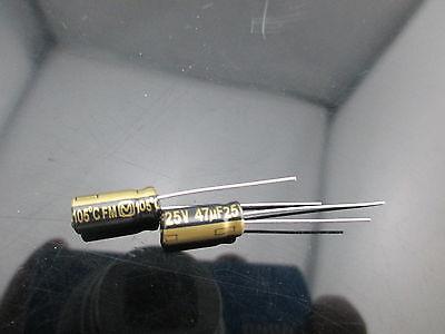 12pcs Japan Panasonic Fm 47uf 25v 47mfd Impedance Electrolytic Capacitors