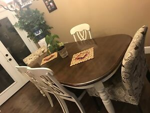 Wooden Kitchen Table with Chairs