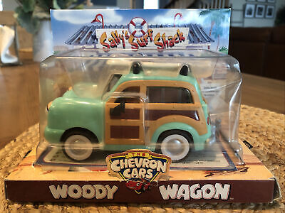 Vintage Chevron Cars Woody Wagon 1999 With Surf Board New