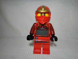 Lego Ninjago 9 Figure Digital Alarm Clock Red Kai Figure