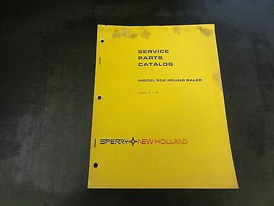 New Holland Model 852 Round Baler Service Parts Catalog Manual