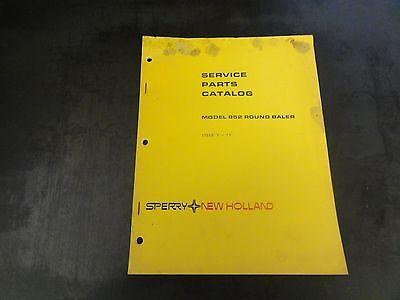 New Holland Model 852 Round Baler Service Parts Catalog Manual