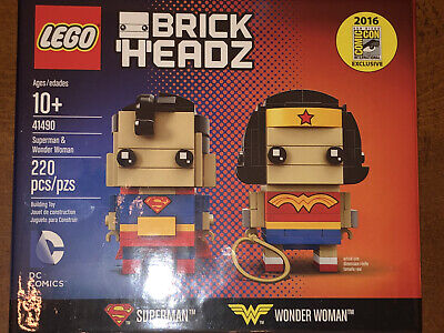 LEGO BrickHeadz Superman and Wonder Woman (41490) NIB/Factory Sealed