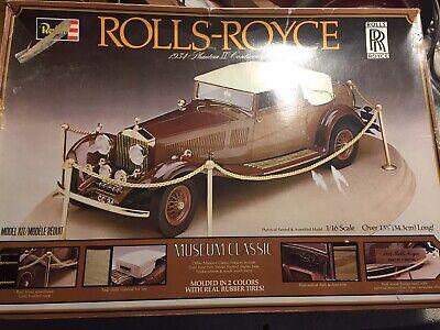 Vintage 1979 REVELL Rolls-Royce 1934 Phantom II Continental 1:16 Scale Model Kit
