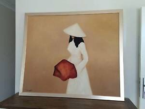 HUGE Framed Painting, Acrylic on Plywood. Mitchelton Brisbane North West Preview