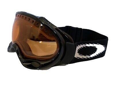 Oakley A-Frame Snow Board Ski Goggles Black Frame w/ Persimmon