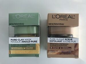 L'Oréal Clarify & Smooth Face Mask and Smooth & Glow Face Scrub