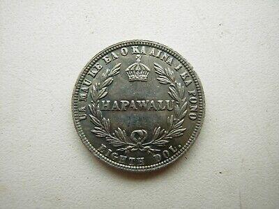 Hawaii Hapawalu Coin 1/8 dollar 1883 12.5 cents Read description