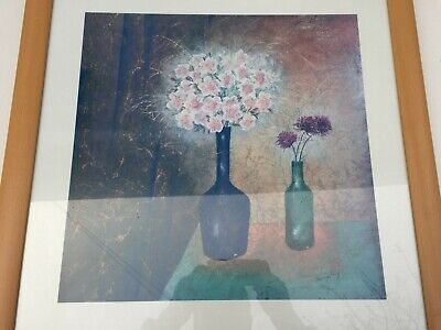 Painting By David Way 23 X 23 Framed Flower Painting