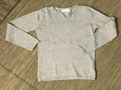 Zadig Voltaire Youth Girls 8 Peace Sweater Long Sleeve Gray