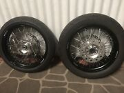 Warp9 motard wheels and tyres WR450f Yamaha 09 Perth Perth City Area Preview