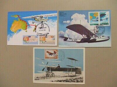 Three PIONEER OF AVIATION maxi cards