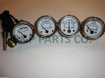 Oil Pressure Fuel Temp Amp Gauge Set For Allis Chalmers Wd45 D15 17 19 Diesels
