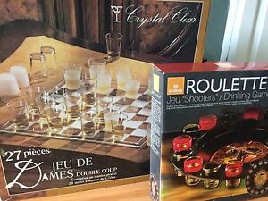 Checkers (Good condition) + Roulette (Brand New) Drinking Games