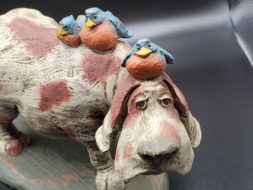 American Chestnut Folk Art Poindexter Bird Dog 2003