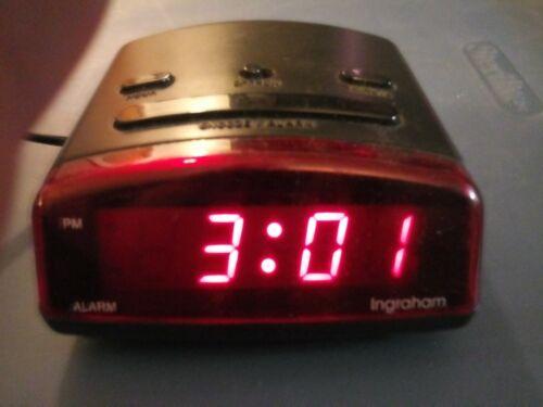 Vintage INGRAHAM Model Digital Alarm Clock Small