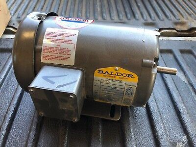 Baldor Electric Motor M3454 48 Frame 1725 Rpm 208-230460 Used Possibly New