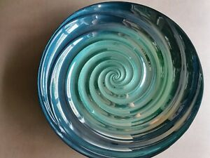 Blue swirl decor bowl new