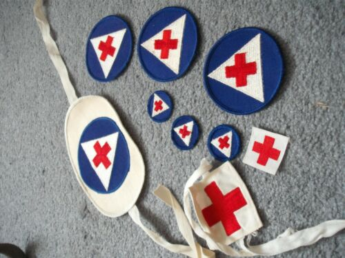 WW2 Homefront American Red Cross lot old patches and armbands