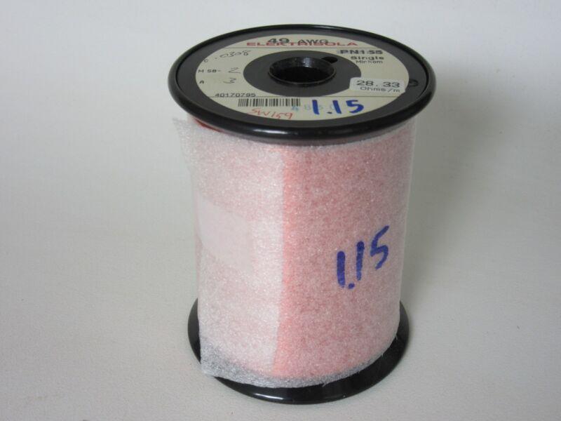 49 AWG  1.15 lbs.   Elektrisola PN 155 Single Enamel Coated Copper Magnet Wire