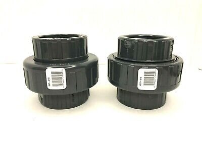 Spears 1 Union Sch 80 Socket Connection Pvc Gray Viton O-ring Seal Lot Of 2
