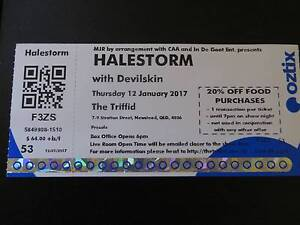 Halestorm Concert Ticket 12 January Brisbane The Triffd Strathpine Pine Rivers Area Preview