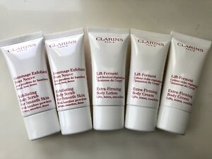 $5 each Clarins 30ml body scrub, cream, lotion NEW