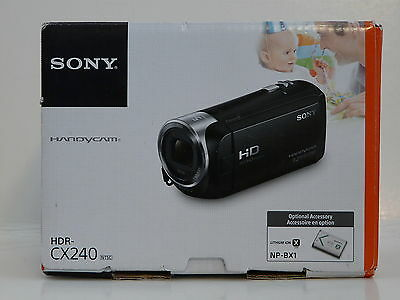 Used, SONY Handycam Video Camera with 2.7-Inch LCD - Black (model: HDR-CX240)... NEW! for sale  Shipping to India