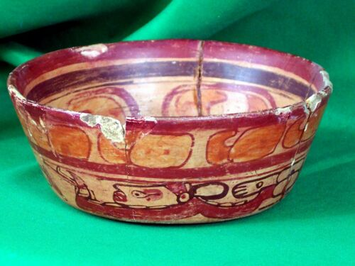 Maya Polychrome Bowl with Human Figures - Mysterious & Beautiful!