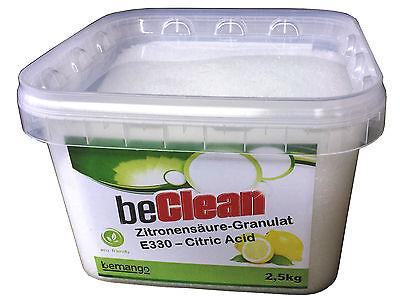Zitronensäure  2,5 kg Eimer Granulat  E330 Lebensmittelqualität Entkalker