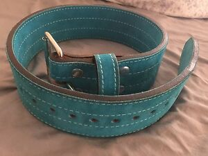 Custom Turquoise weight lifting belt from BestBelts.net