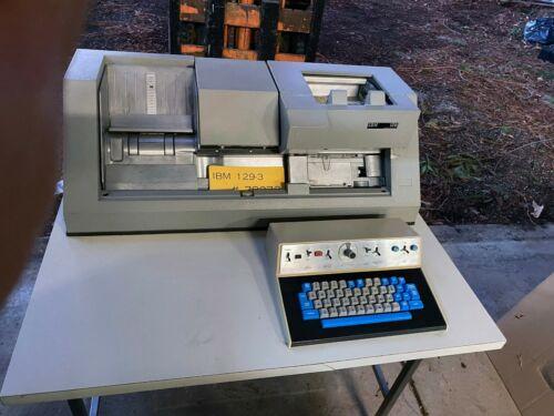 Vintage IBM 129 keypunch machine
