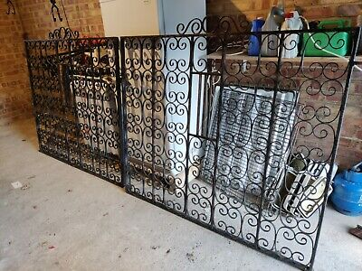 Pair Of Heavy Sturdy Metal Driveway Gates Collection Only From TN376RT