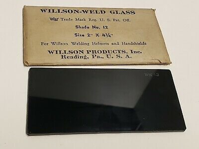Vintage Willson-weld Glass Welding Lens 2 X 4 14 Shade No. 12 - New Nos