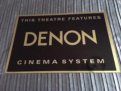 Denon Cinema Sign
