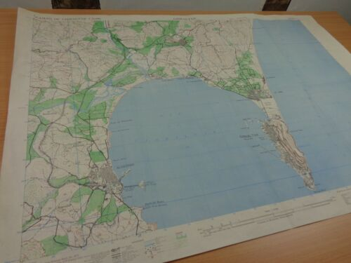 """WW2 (July 1943) British Map of """"GIBRALTAR"""" (Revised from Intelligence Reports)"""
